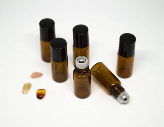 3 ml roll-on barna folyadéküveg 6db-os csomagban