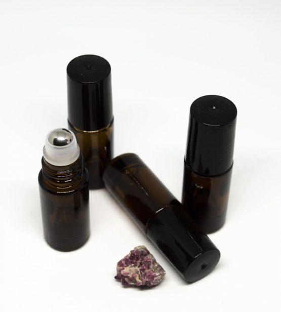 5 ml roll-on barna folyadéküveg (vastag falú) 4db-os csomagban